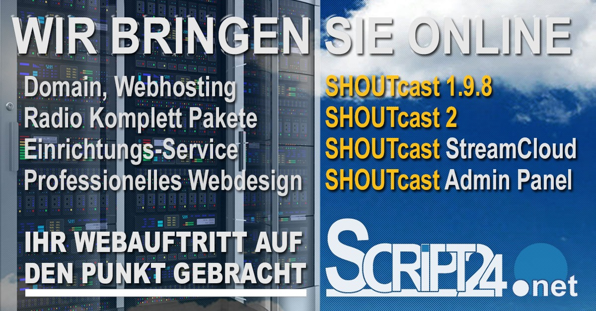 script24, hosting, shoutcast,
